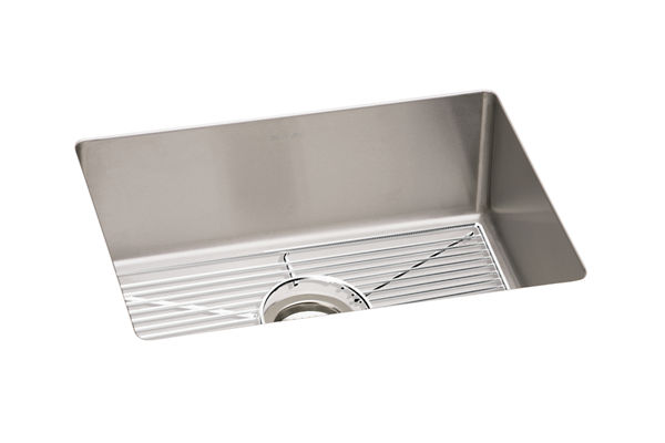 "Elkay Crosstown 16 Gauge Stainless Steel, 23-1/2"" x 18-1/4"" x 10"" Single Bowl Undermount Sink Kit"