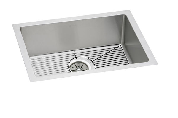 "Elkay Crosstown 16 Gauge Stainless Steel 23-1/2"" x 18-1/4"" x 8"", Single Bowl Undermount Sink Kit"