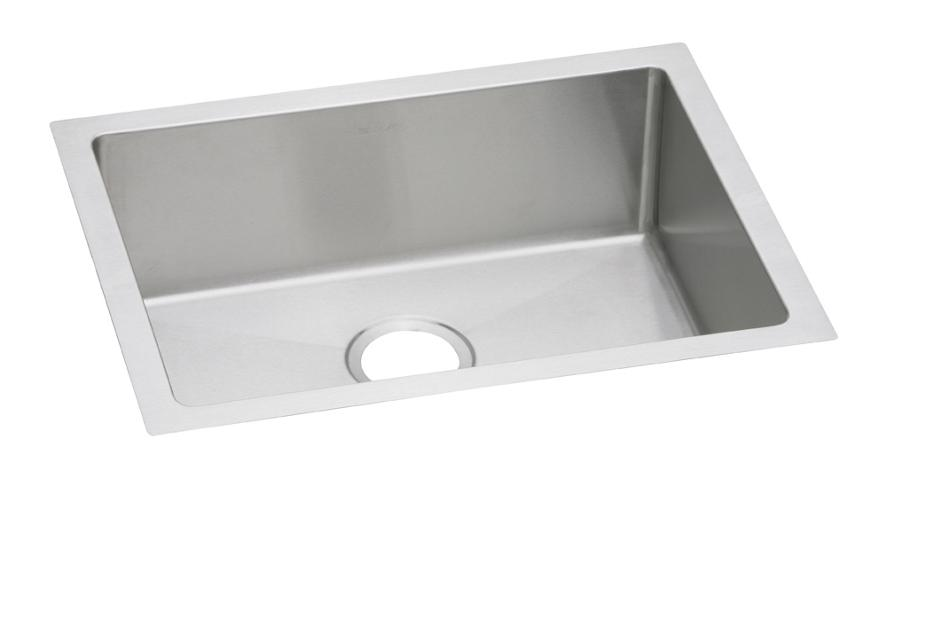Terrific Elkay Crosstown 16 Gauge Stainless Steel 23 1 2 X 18 1 4 X 8 Single Bowl Undermount Sink Elkay Home Interior And Landscaping Eliaenasavecom