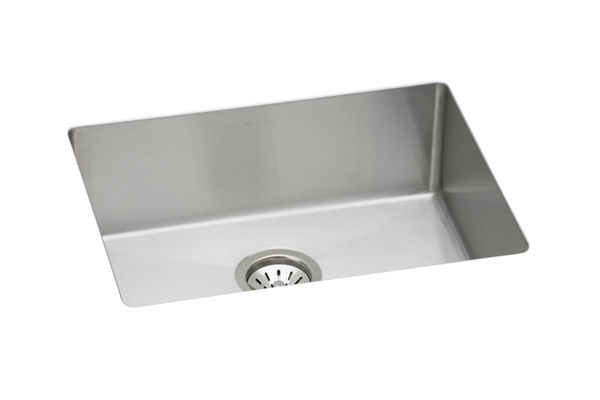 "Elkay Avado Stainless Steel 23-1/2"" x 18-1/4"" x 8"", Single Bowl Undermount Sink Kit"