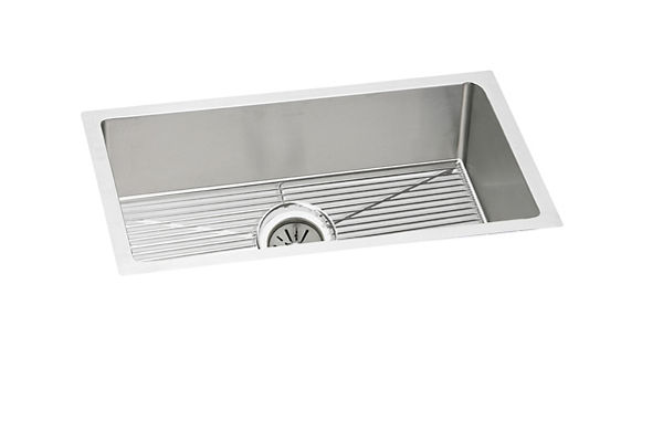 "Elkay Crosstown 16 Gauge Stainless Steel 30-1/2"" x 18-1/2"" x 8"", Single Bowl Undermount Sink Kit"