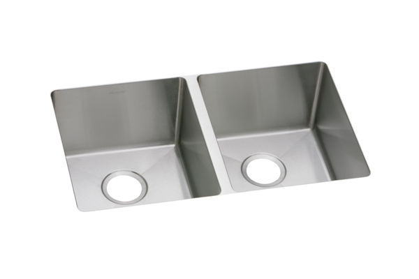 "Elkay Crosstown 16 Gauge Stainless Steel 30-3/4"" x 18-1/2"" x 8"", Equal Double Bowl Undermount Sink"