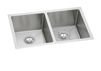"Image for Elkay Stainless Steel 30-3/4"" x 18-1/2"" x 8"", Equal Double Bowl Undermount Sink Kit from ELKAY"