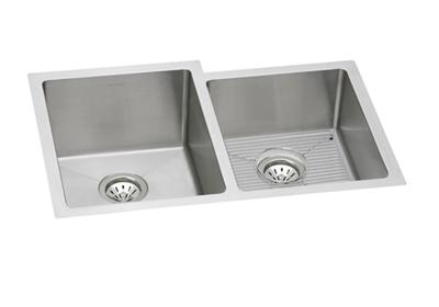 "Image for Elkay Stainless Steel 31-1/4"" x 20-1/2"" x 10"", Offset Double Bowl Undermount Sink Kit from ELKAY"