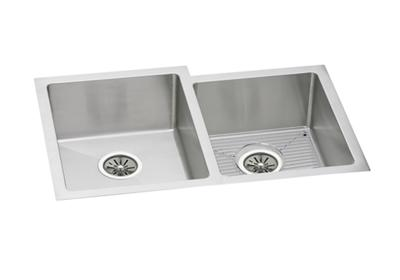 "Image for Elkay Stainless Steel 31-1/4"" x 20-1/2"" x 8"", Offset Double Bowl Undermount Sink Kit from ELKAY"