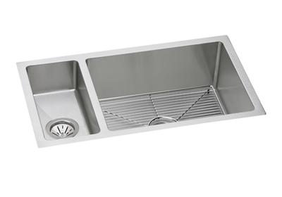 "Image for Elkay Stainless Steel 32-1/4"" x 18-1/4"" x 10"", 30/70 Double Bowl Undermount Sink Kit from ELKAY"