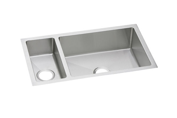 "Elkay Crosstown 16 Gauge Stainless Steel, 32-1/4"" x 18-1/4"" x 10"" 30/70 Double Bowl Undermount Sink"