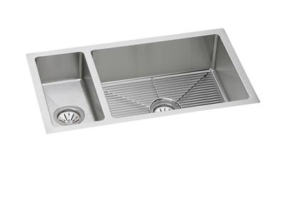 "Image for Elkay Crosstown 16 Gauge Stainless Steel 32-1/4"" x 18-1/4"" x 8"", 30/70 Double Bowl Undermount Sink Kit from ELKAY"
