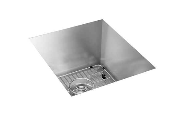 "Elkay Crosstown 16 Gauge Stainless Steel 16"" x 18-1/2"" x 10"", Single Bowl Undermount Sink Kit"