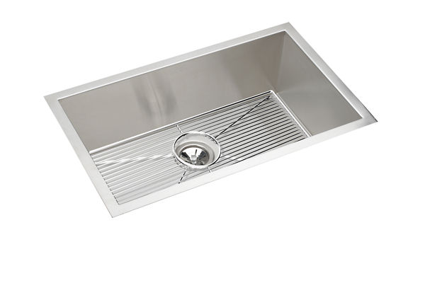 "Elkay Crosstown 16 Gauge Stainless Steel 30-1/2"" x 18-1/2"" x 10"", Single Bowl Undermount Sink Kit"