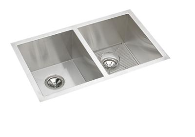 "Image for Elkay Crosstown 16 Gauge Stainless Steel, 30-3/4"" x 18-1/2"" x 10"" Equal Double Bowl Undermount Sink Kit from ELKAY"