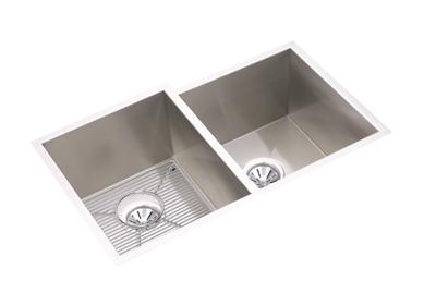 "Image for Elkay Crosstown 16 Gauge Stainless Steel 31-1/4"" x 20-1/2"" x 10"", Offset Double Bowl Undermount Sink Kit from ELKAY"
