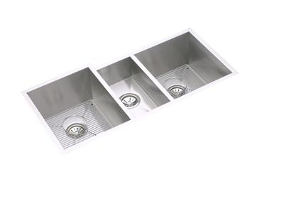 "Image for Elkay Crosstown 16 Gauge Stainless Steel 40"" x 20-1/2"" x 10"", Triple Bowl Undermount Sink Kit from ELKAY"