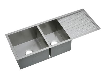 "Image for Elkay Crosstown 16 Gauge Stainless Steel 47-1/4"" x 18-1/2"" x 10"", 60/40 Double Bowl Undermount Sink with Drainboard from ELKAY"