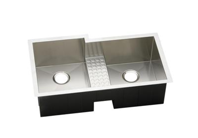 "Image for Elkay Crosstown 16 Gauge Stainless Steel 35-1/2"" x 20-1/2"" x 10"", Offset Double Bowl Undermount Sink from ELKAY"