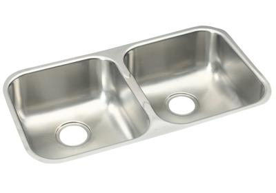 "Image for Elkay Stainless Steel 31-3/4"" x 18-1/4"" x 8"", Equal Double Bowl Undermount Sink from ELKAY"