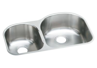 "Image for Elkay Stainless Steel 31-1/4"" x 20"" x 8"", Offset 40/60 Double Bowl Undermount Sink from ELKAY"