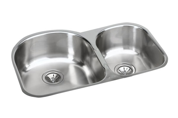 Harmony (Elumina) Stainless Steel Double Bowl Undermount Sink Kit