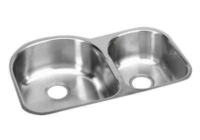 "Image for Elkay Stainless Steel 31-1/4"" x 20"" x 8"", Offset 60/40 Double Bowl Undermount Sink from ELKAY"
