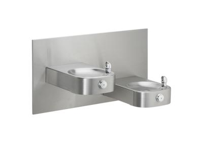 Image for Elkay Slimline Soft Sides Heavy Duty Bi-Level Fountain, Non-Filtered Non-Refrigerated Stainless from ELKAY