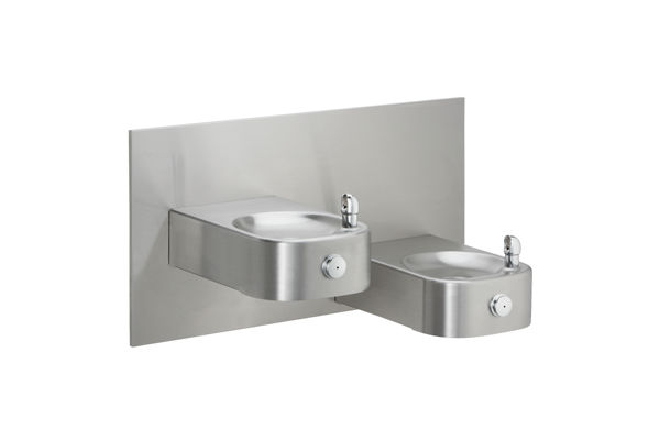Elkay Soft Sides Heavy Duty Bi-Level Fountain Non-Filtered, Non-Refrigerated Freeze Resistant Stainless