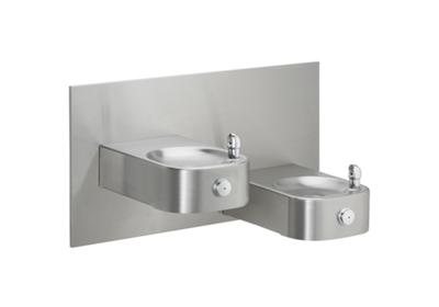 Image for Elkay Soft Sides Heavy Duty Bi-Level Reverse Fountain, Non-Filtered Non-Refrigerated Stainless from ELKAY