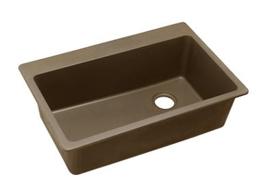 "Image for Elkay Quartz Classic 33"" x 22"" x 9-1/2"", Single Bowl Top Mount Sink, Mocha from ELKAY"