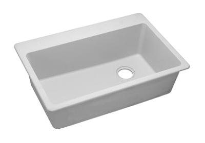 "Image for Elkay Quartz Classic 33"" x 22"" x 9-1/2"", Single Bowl Top Mount Sink, White from ELKAY"