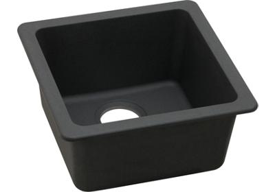 "Image for Elkay Quartz Classic 16-5/8"" x 16-5/8"" x 8"", Single Bowl Dual Mount Bar Sink, Black from ELKAY"