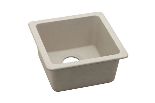 "Elkay Quartz Classic 16-5/8"" x 16-5/8"" x 8"", Single Bowl Dual Mount Bar Sink"