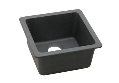 "Image for Elkay Quartz Classic 16-5/8"" x 16-5/8"" x 8"", Single Bowl Dual Mount Bar Sink, Dusk Gray from ELKAY"