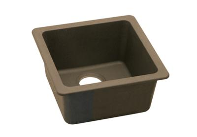 "Image for Elkay Quartz Classic 16-5/8"" x 16-5/8"" x 8"", Single Bowl Dual Mount Bar Sink, Mocha from ELKAY"