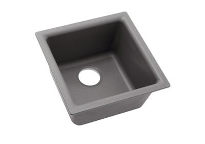 "Image for Elkay Quartz Classic 15-3/4"" x 15-3/4"" x 7-11/16"", Single Bowl Dual Mount Bar Sink, Greystone from ELKAY"