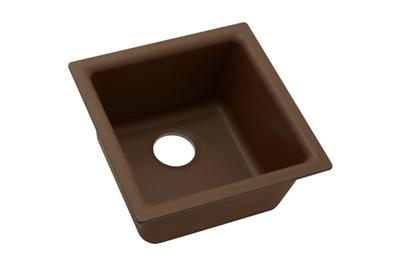 "Image for Elkay Quartz Classic 15-3/4"" x 15-3/4"" x 7-11/16"", Single Bowl Dual Mount Bar Sink, Pecan from ELKAY"