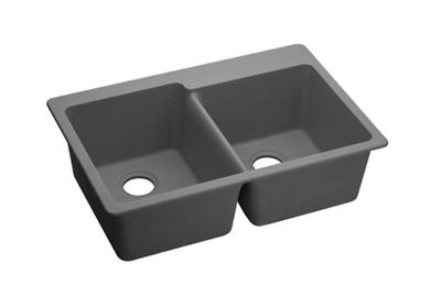 "Image for Elkay Quartz Classic 33"" x 22"" x 9-1/2"", Double Bowl Top Mount Sink, Greystone from ELKAY"