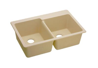 "Image for Elkay Quartz Classic 33"" x 22"" x 9-1/2"", Offset Double Bowl Top Mount Sink, Sand from ELKAY"