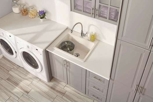 Single Bowl Laundry Sink with Perfect Drain