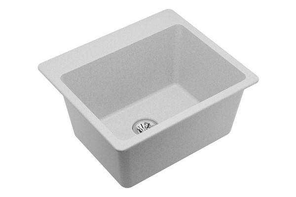 "Elkay Quartz Classic 25"" x 22"" x 11-13/16"", Top Mount Laundry Sink with Perfect Drain"