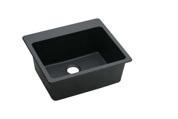 "Elkay Quartz Classic 25"" x 22"" x 9-1/2"", Single Bowl Top Mount Sink"