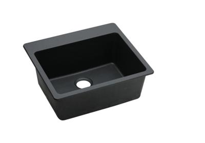 "Image for Elkay Quartz Classic 25"" x 22"" x 9-1/2"", Single Bowl Top Mount Sink, Black from ELKAY"