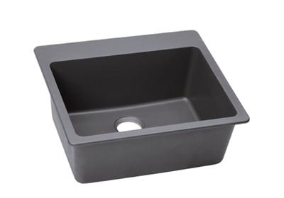 "Image for Elkay Quartz Classic 25"" x 22"" x 9-1/2"", Single Bowl Top Mount Sink, Greystone from ELKAY"
