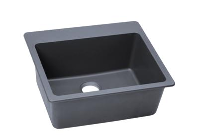"Image for Elkay Quartz Classic 25"" x 22"" x 9-1/2"", Single Bowl Top Mount Sink, Dusk Gray from ELKAY"