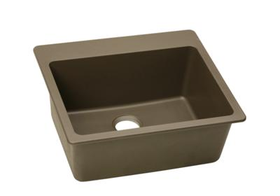 "Image for Elkay Quartz Classic 25"" x 22"" x 9-1/2"", Single Bowl Top Mount Sink, Mocha from ELKAY"