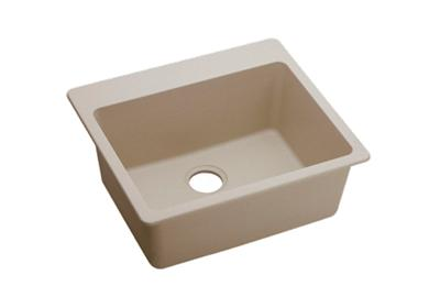 "Image for Elkay Quartz Classic 25"" x 22"" x 9-1/2"", Single Bowl Top Mount Sink, Putty from ELKAY"