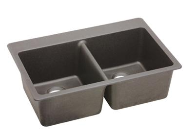"Image for Elkay Quartz Classic 33"" x 22"" x 9-1/2"", Equal Double Bowl Top Mount Sink, Greige from ELKAY"