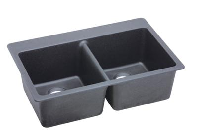 "Image for Elkay Quartz Classic 33"" x 22"" x 9-1/2"", Equal Double Bowl Top Mount Sink, Dusk Gray from ELKAY"