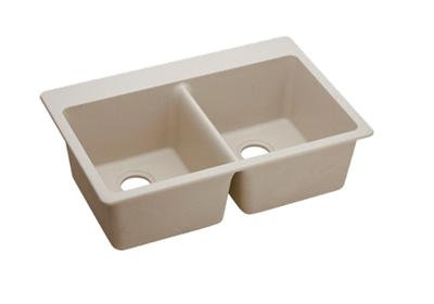 "Image for Elkay Quartz Classic 33"" x 22"" x 9-1/2"", Double Bowl Top Mount Sink, Putty from ELKAY"