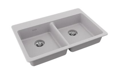 "Image for Elkay Quartz Classic 33"" x 22"" x 5-1/2"", Drop-in ADA Sink with Perfect Drain, Greystone from ELKAY"
