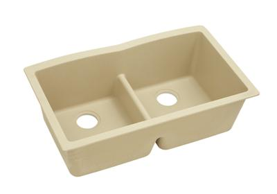 "Image for Elkay Quartz Classic 33"" x 19"" x 10"", Equal Double Bowl Undermount Sink with Aqua Divide, Sand from ELKAY"