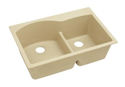 "Image for Elkay Quartz Classic 33"" x 22"" x 10"", Double Bowl Top Mount Sink with Aqua Divide, Sand from ELKAY"